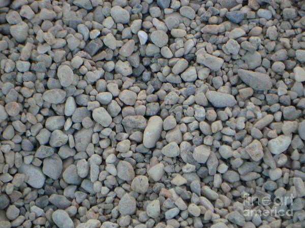 Pebbles Art Print featuring the photograph Stones Texture by PJ Cloud
