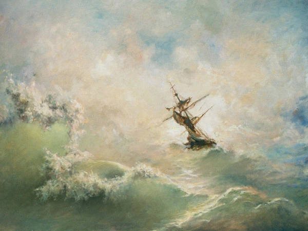 Storm Art Print featuring the painting Storm by Tigran Ghulyan
