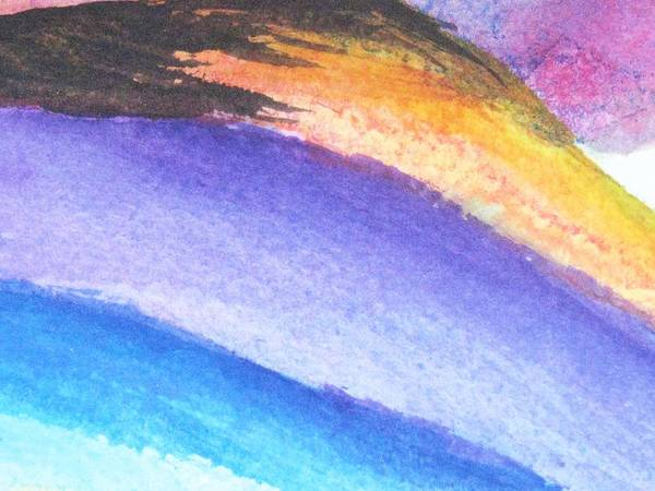 Abstract Art Print featuring the painting Streaks Of Light by Trilby Cole