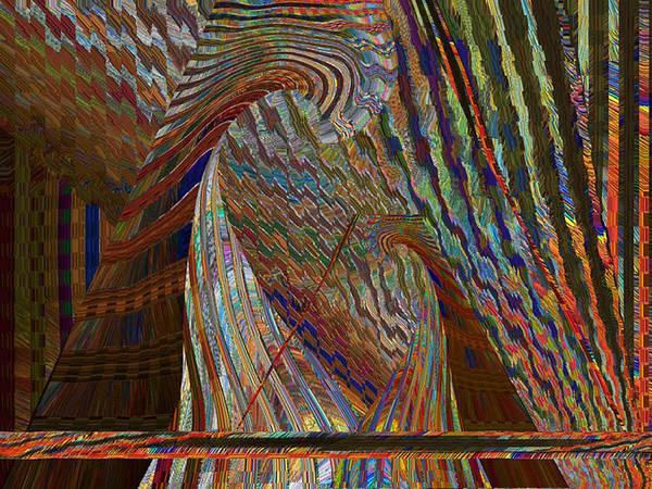 Stripes Art Print featuring the digital art Stripe Amazement Bonding by Beverly Kimble Davis