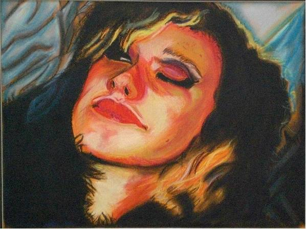 Art Print featuring the painting Sultry by Rachel Pochedly