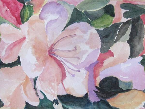 Flower Art Print featuring the painting Summer Delight by Trilby Cole