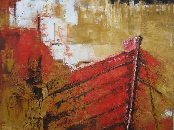 Boats Art Print featuring the painting 'summer Memories' by Marina Harris