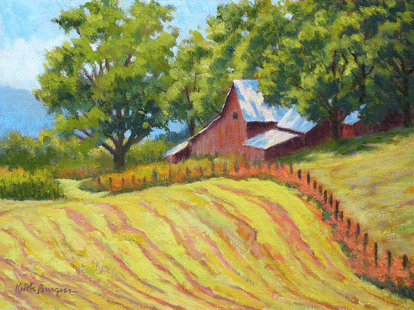 Landscape Art Print featuring the painting Summer Patterns by Keith Burgess