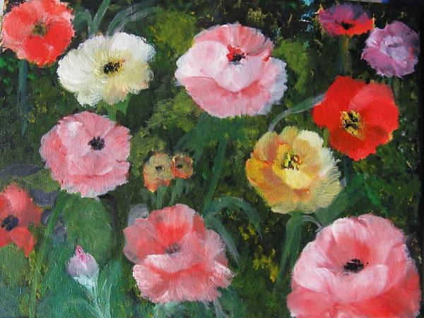 Poppies Art Print featuring the painting Summer Sensations by Trilby Cole