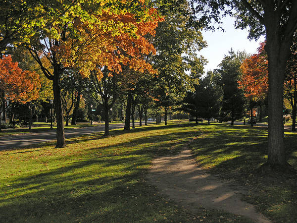 Minnesota Art Print featuring the photograph Summit Avenue In The Fall by Janis Beauchamp