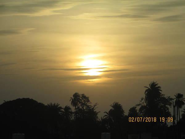 A Beautiful Sunset View Art Print featuring the photograph Sun View by Rajesh Kumawat