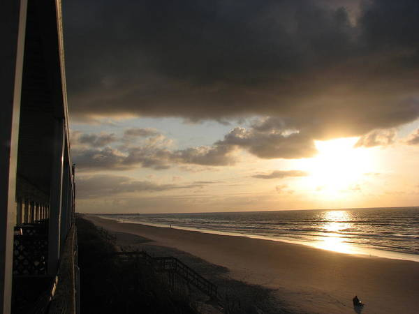 Topsail Art Print featuring the photograph Sunrise From The Porch by April Camenisch