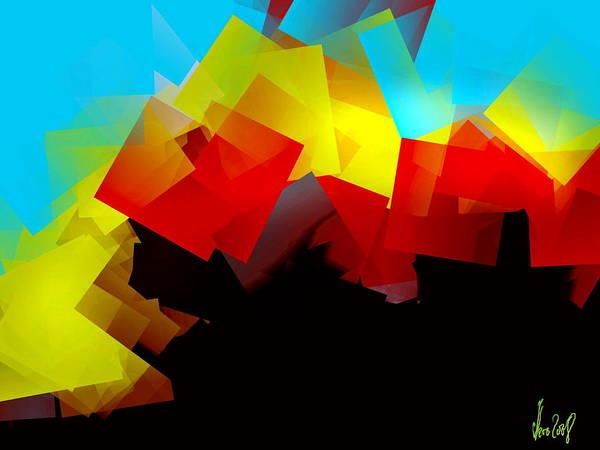 Sunrise Art Print featuring the digital art Sunrise by Helmut Rottler