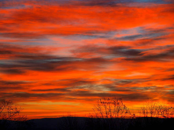 Sun Art Print featuring the photograph Sunrise In Ithaca by Paul Ge