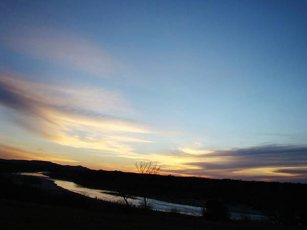 Landscape Art Print featuring the photograph Sunrise River Two by Ana Villaronga