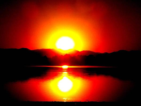 Digital Art Print featuring the photograph Sunset 3 by Travis Wilson