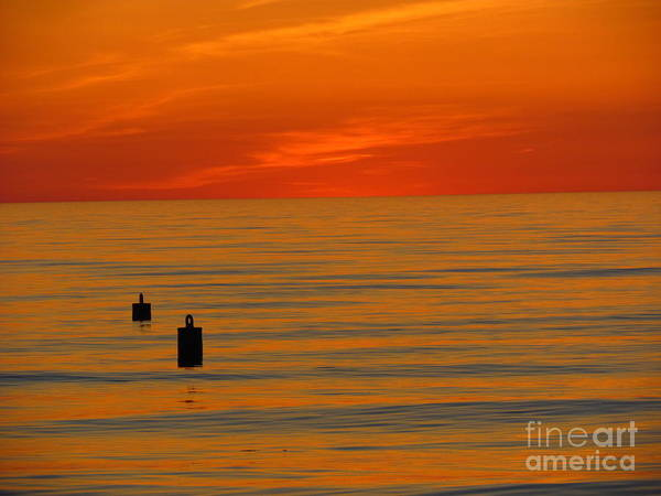 Beach Art Print featuring the photograph Sunset 5 by Donica Abbinett