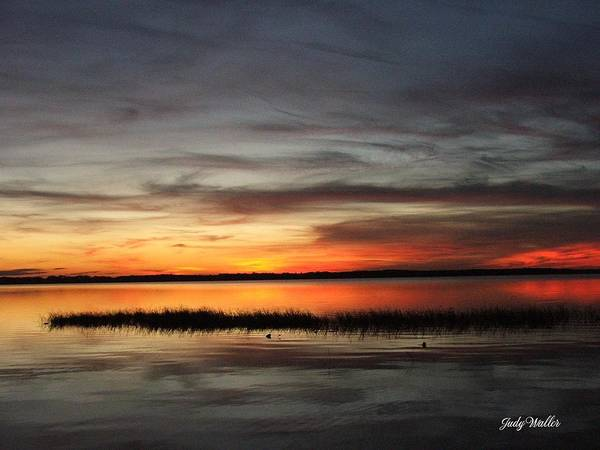 Sunset Art Print featuring the photograph Sunset On Lake Lochloosa by Judy Waller