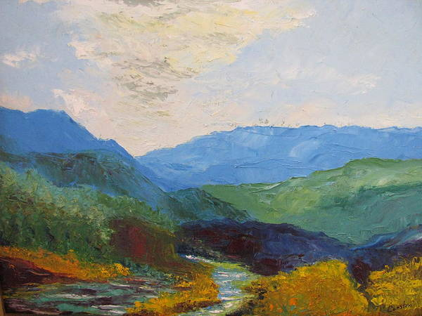 Landscape Art Print featuring the painting Susquahanna by Belinda Consten
