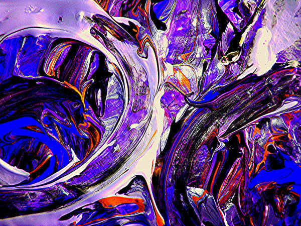Abstract Arts Art Print featuring the digital art Swirl 1 by Teo Santa
