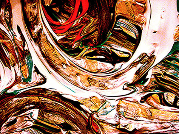 Mixed Media Prints Art Print featuring the digital art Swirl 2 by Teo Santa