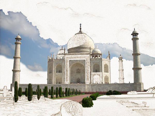 Taj Mahal Art Print featuring the digital art Taj Mahal Dreams Of India by Karla Beatty