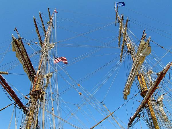 Hovind Print featuring the photograph Tall Ship Series 16 by Scott Hovind
