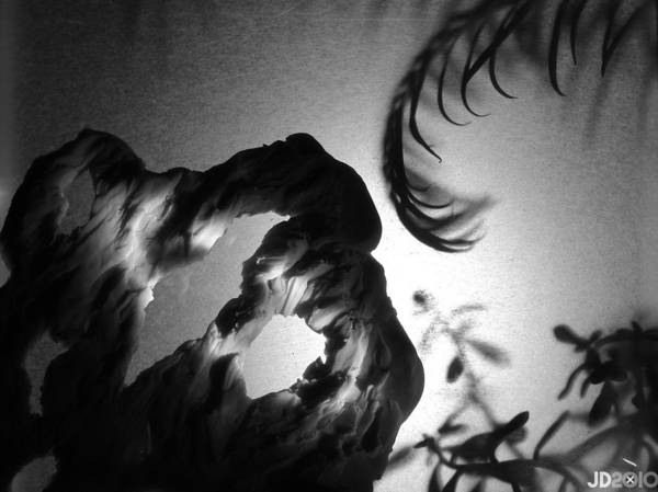 B&w Art Print featuring the photograph Tendril Cave by Jonathan Donovan