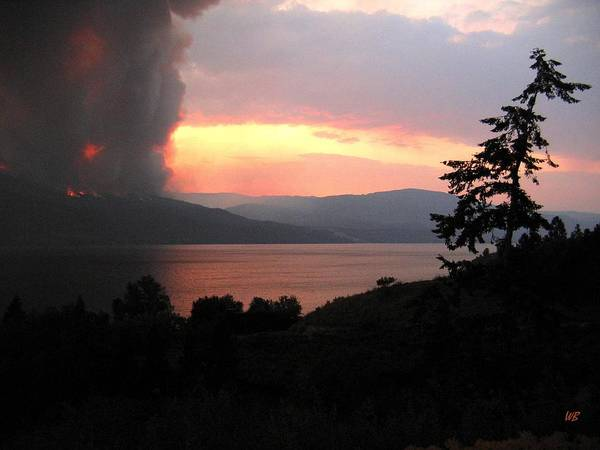Forest Fire Art Print featuring the photograph Terrace Mountain Fire 4 by Will Borden