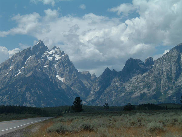 Grand Teton Art Print featuring the photograph Teton Range by Steven Sloan
