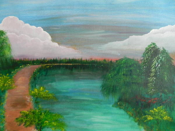 Landscape Art Print featuring the painting Texas Summer by Patti Spires Hamilton