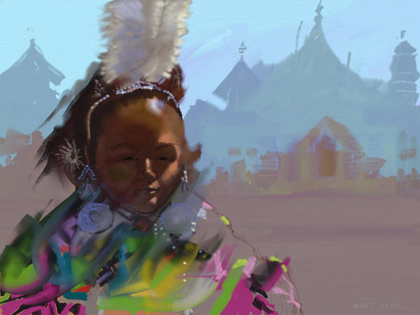 Thailand Art Print featuring the digital art Thai Princess by Robert Bissett