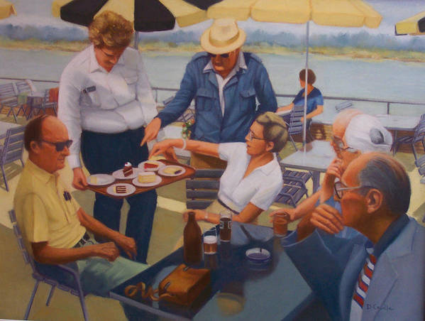 Rhine River Cruise Art Print featuring the painting The Boat Party by Diane Caudle