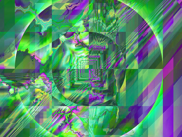 Fractal Art Print featuring the digital art The Crazy Fractal by Frederic Durville