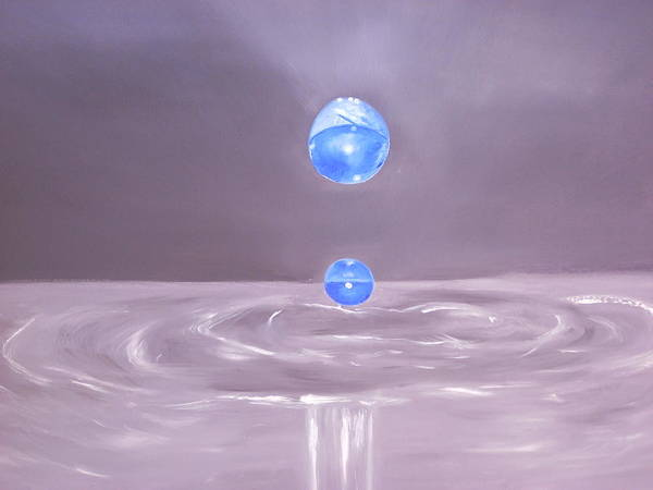 Nature Art Print featuring the painting The Drop by Murielle Hebert