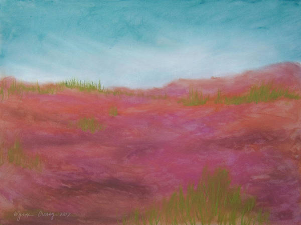 Beach Art Print featuring the painting The Dunes by Wynn Creasy
