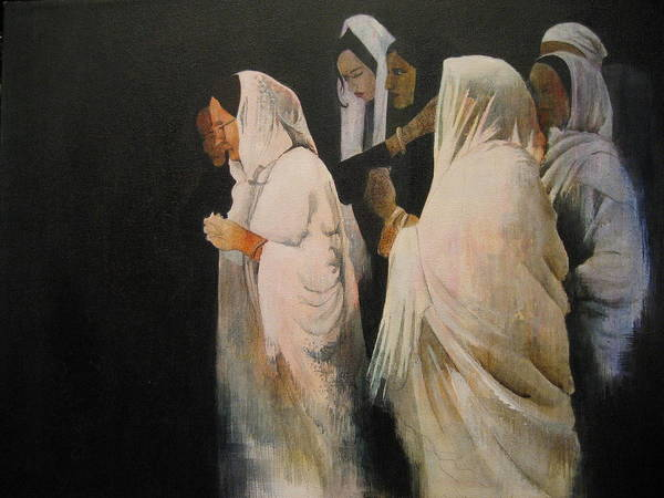 Indian Art Print featuring the painting The Gathering by Victoria Heryet