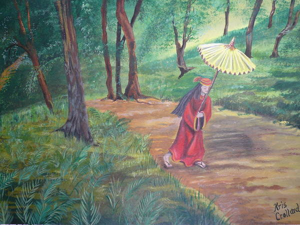 Landscape Art Print featuring the painting The Journey by Kris Crollard