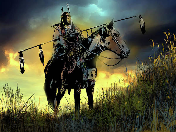 Native Americans Art Print featuring the painting The Last Ride by Paul Sachtleben