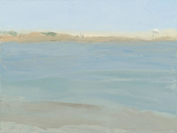 Seascape Art Print featuring the painting The Little Beach by Karen Kappe Nugent