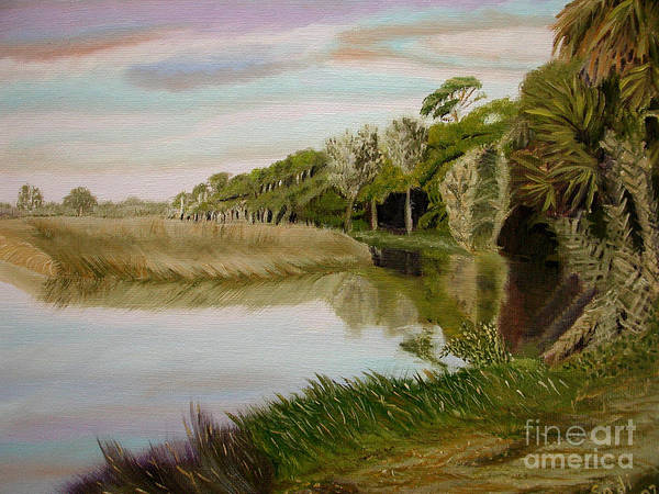 Landscape Art Print featuring the painting The Loop by Sodi Griffin