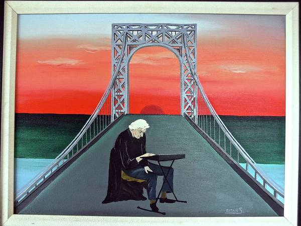 Art Print featuring the painting The Musician by Eitan Saggi