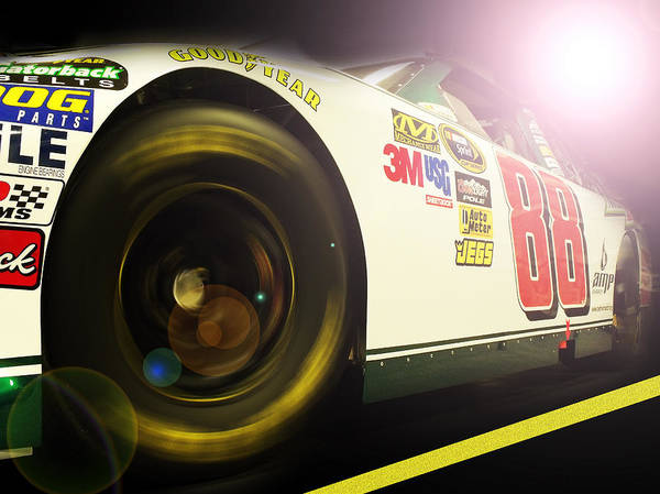 Nascar Art Print featuring the photograph The Need For Speed 88 by Kenneth Krolikowski
