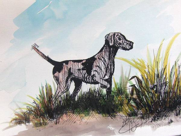 African American Art Art Print featuring the painting The Pointer by Ethel Dixon