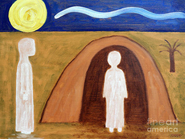 Easter Art Print featuring the painting The Raising Of Lazarus by Patrick J Murphy