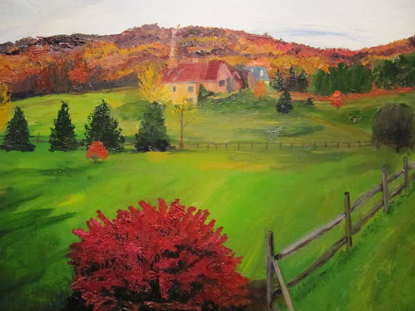Bush Art Print featuring the painting The Red Bush by Gloria Condon