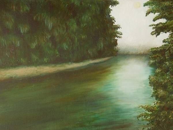 Nature Art Print featuring the painting The Red River by Ashly Pickle