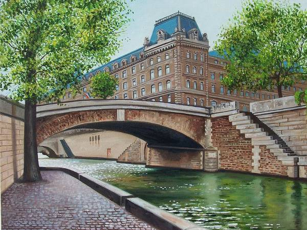 Cityscape Art Print featuring the print The Seine by Arnold Hurley