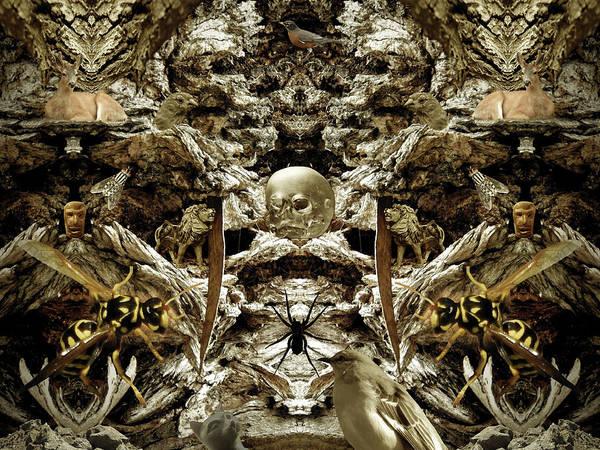 Monochrome Art Print featuring the digital art The Sleep Of Reason #18 by Glen Faxon