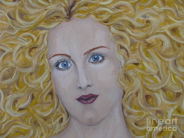 Art Art Print featuring the painting The Sun - Fragment by Svetlana Vinokurtsev
