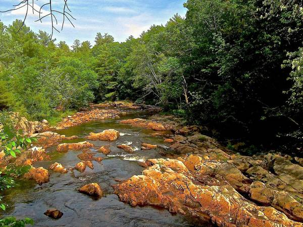 River Art Print featuring the photograph The Swift River In South Tamworth by Elizabeth Tillar