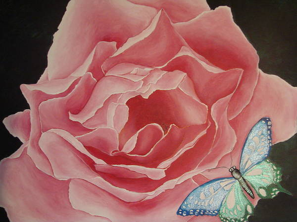 Floral Art Print featuring the painting The Unfolding by Glory Fraulein Wolfe