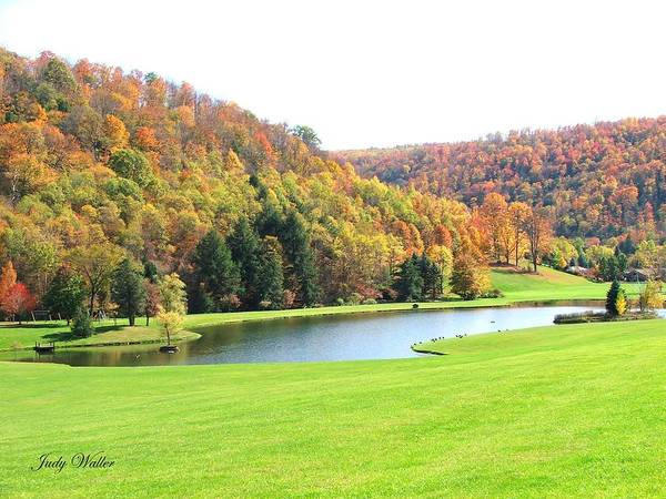 Pond Art Print featuring the photograph The View In The Valley by Judy Waller