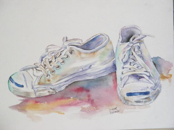 Art Print featuring the painting They Were White by Diane Ziemski